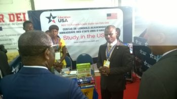 The Togolese Primer Minister talking to Educational Advisor