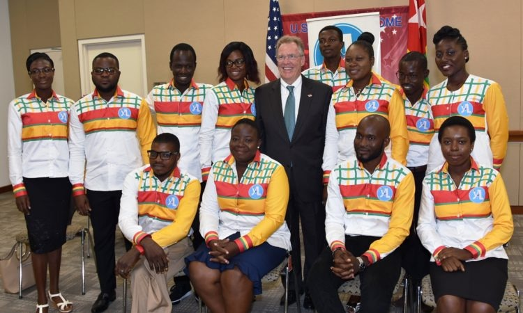 Mandela Washington Fellowship with Ambassador Gilmour