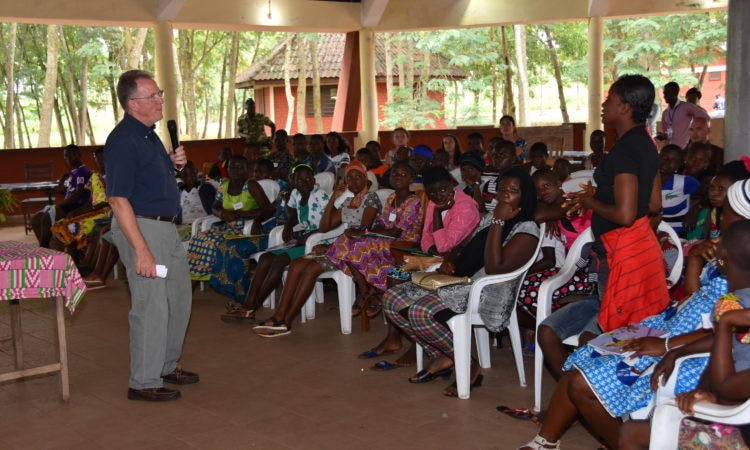 US Ambassador David Gilmour during his session with the teenage girls