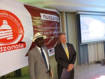 Ambassador David Gilmour and the President of the High Authority for corruption Prevention