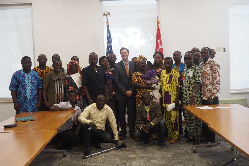 Ambassador' Special Self Help Program Second Advance Checks Handover Ceremony Group photo