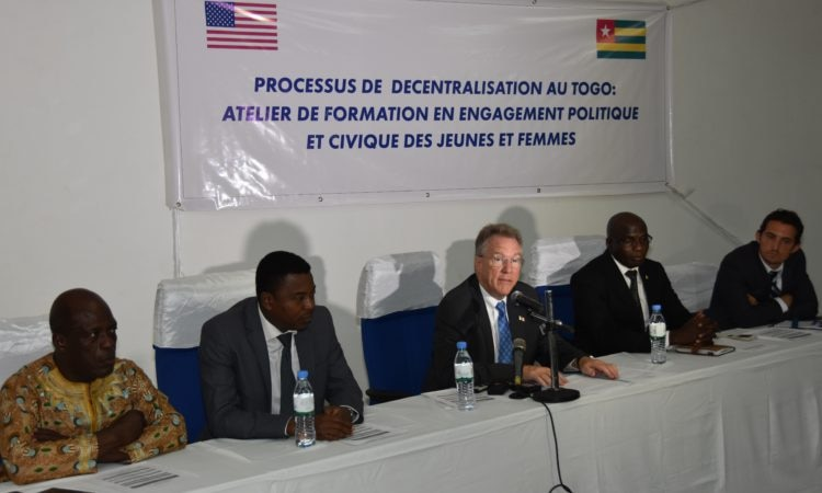 Ambassador David Gilmour during his opening address