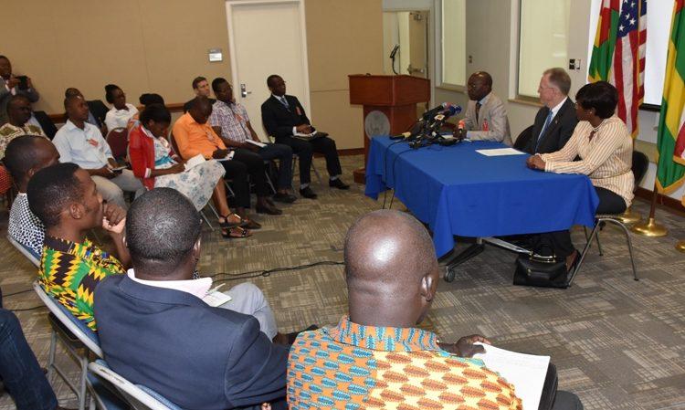 Le coordinateur du MCC au Togo, Mr. Baba, prononce son discours