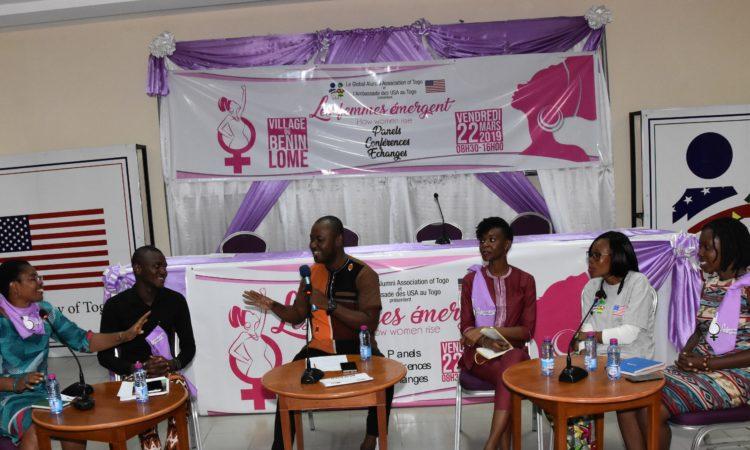 Les Alumni IVLP et YALI lors du panel « Comment aider les jeunes filles à réussir leurs études »