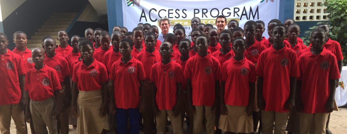 Lancement du nouveau programme «English Access Microscholarship» à Kara