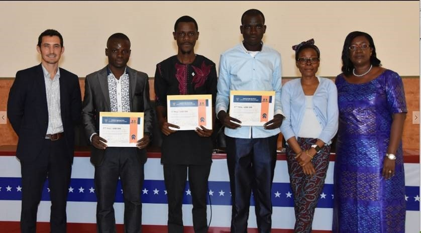 Pitch competition winners – with jury members